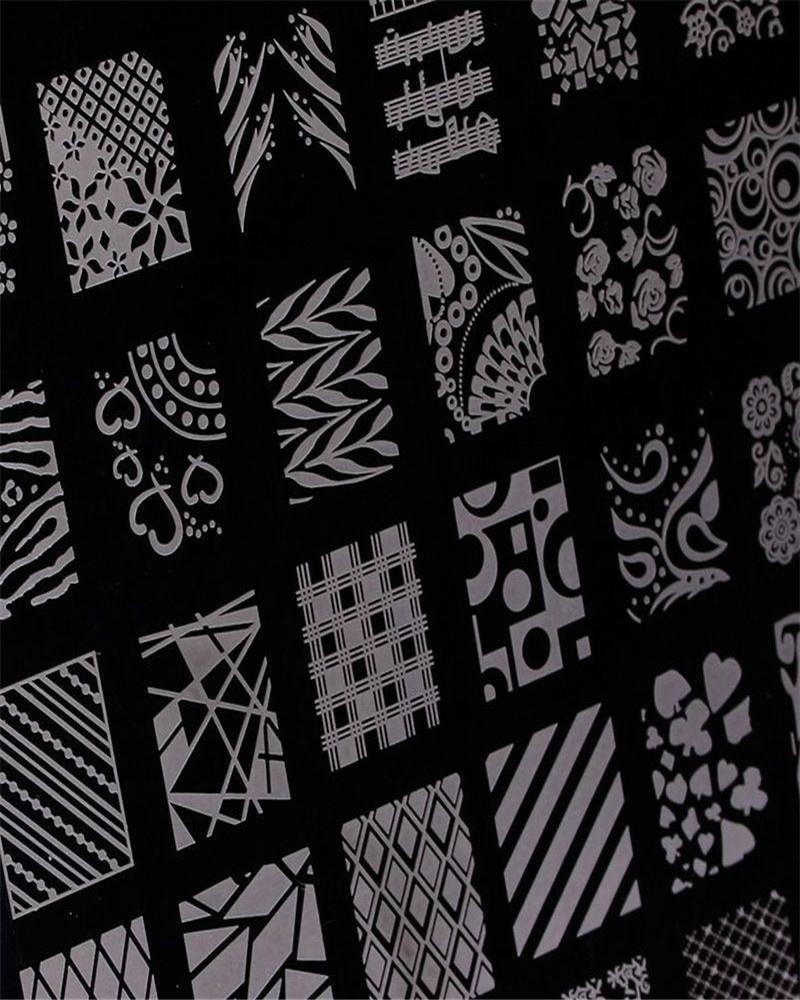 2016 new Flower Design Nail art Image Stamp Plates Polish Stamping Manicure Image XY18 Size 14
