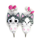 New Arrival Cute Cat Headset, 3.5mm In-Ear Retractable Wired Headphones for Kids/Children/Girls Custom Bulk Sale