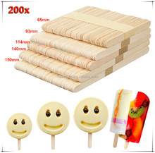 Wholesale ice cream birch wooden custom popsicle sticks