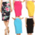 Mini / Midi / Maxi Skirt, Floral / Solid Color Knee-Length Pencil skirts women