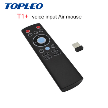 Topleo Factory price commercial low cost oem T1+ 2.4G RF voice air mouse nano usb remote control
