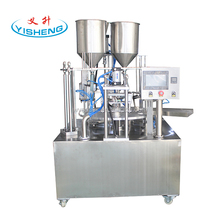 custom factory price rotary mineral water cup filling sealing machine