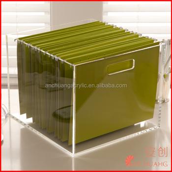Acrylic Office File Folder Hanging File Folder - Buy File Holder,Desk File  Organizer,Office File Racks Product on Alibaba com