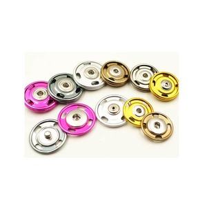 wholesale colorful brass round clothing snap on button