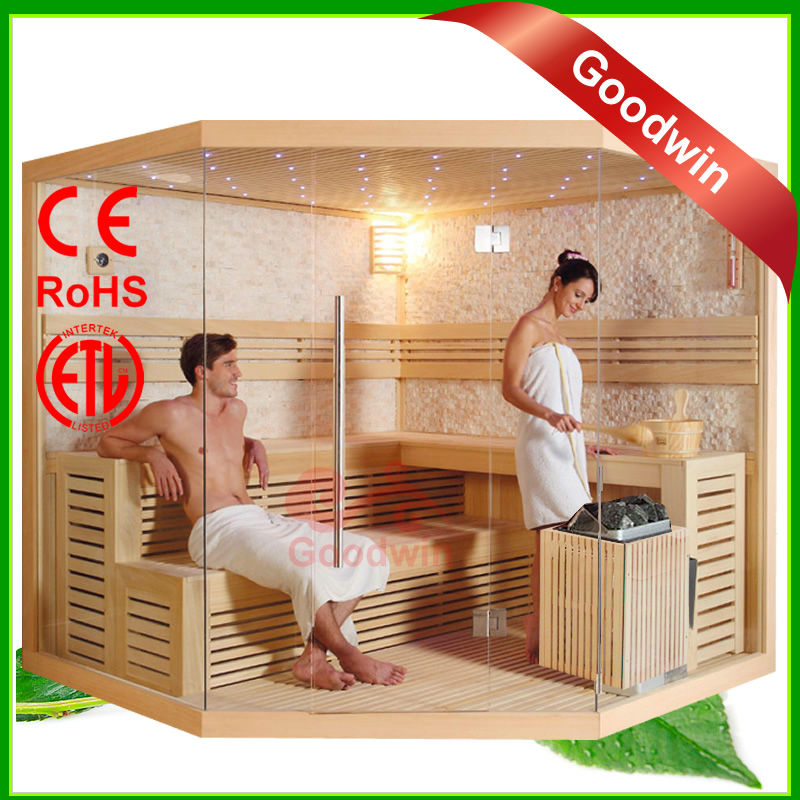 Cheap Price and High Quality Red Cedar Far Infrared Heater Ozone Sauna Wood Steam Room GW-ST1