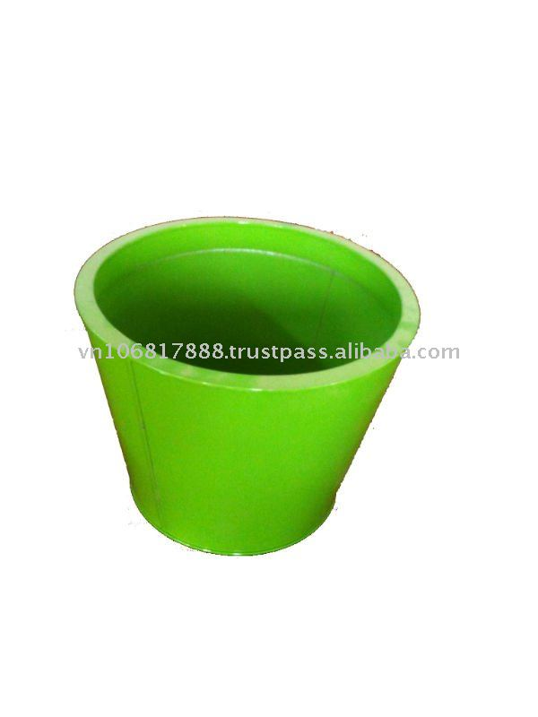 Green Zinc Flower Pots