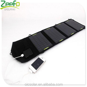 Alibaba China Best 14W Dual USB Portable Solar Panel Charger for Mobile Phone Tablet PC USB Devices