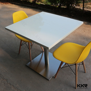 Acrylic resin stone table and chairs 4 restaurant