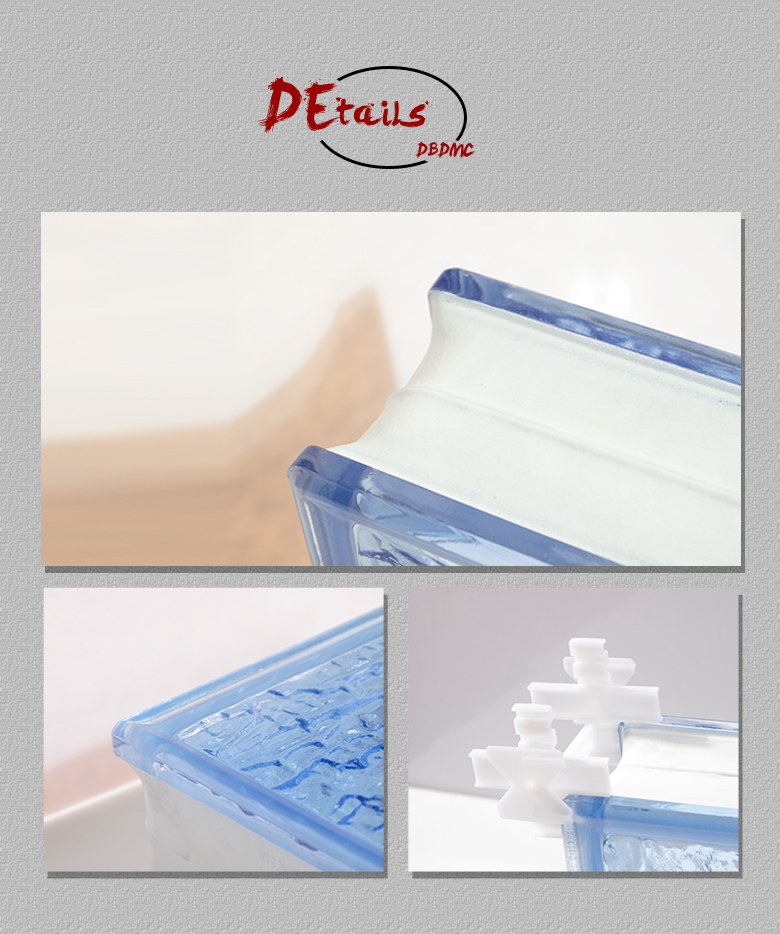 Factory direct 6mm plastic glass block spacer