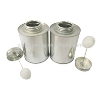16oz round empty metal tinplate cans for adhesive or paint with ball dauber
