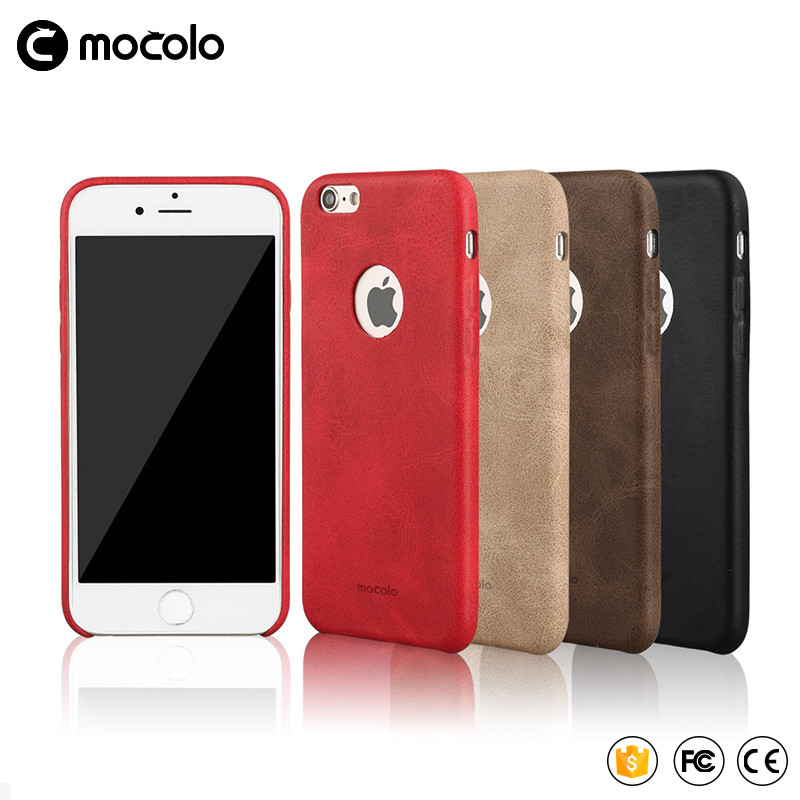 Hot New Mocolo Factory Leather Back Case for iPhone 7 Phone Case High Quality for iPhone 7 Plus Mobile Phone Case