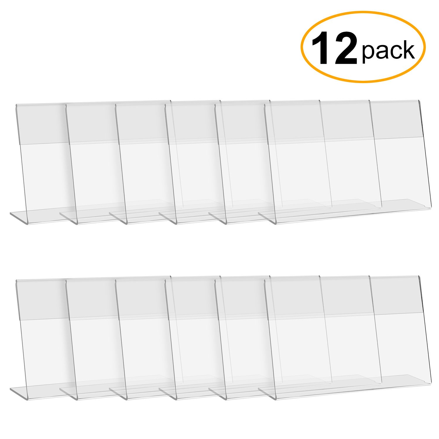 Get Quotations · CRUODA Acrylic Sign Display Holder L,6x4, 12 Pc, Display  Stands, Menu