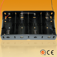4 d cell battery holder with wire leads