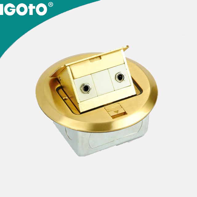 Factory Price Silver Material Floor Mounting Outlets Electrical Sockets  Electrical Plugs Electrical Plug Sockets