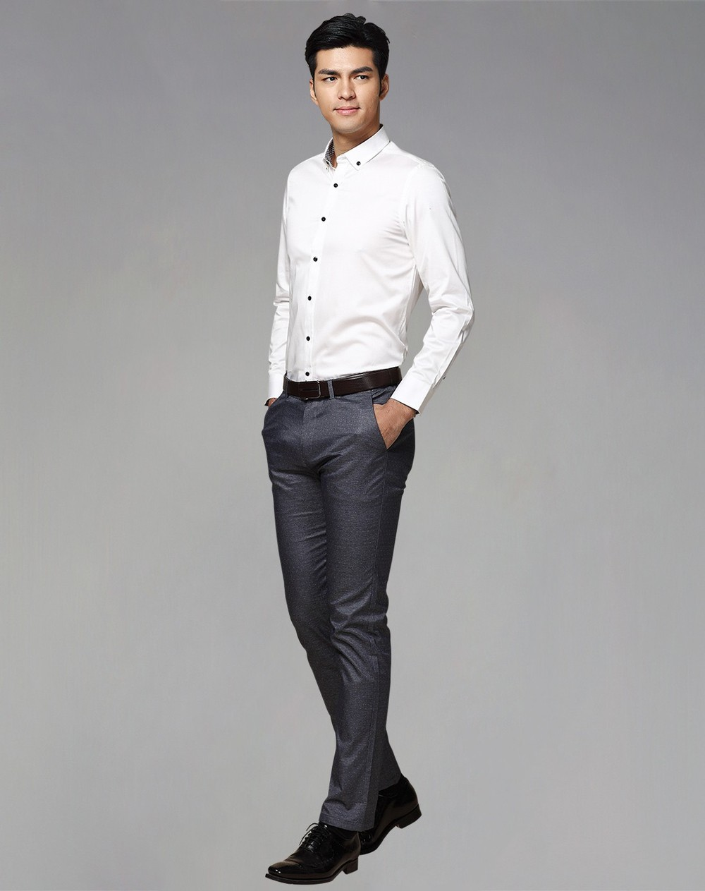 Wholesale Custom Design Dress Shirt Cotton Formal Long Sleeve Mens Dress Shirt High Quality