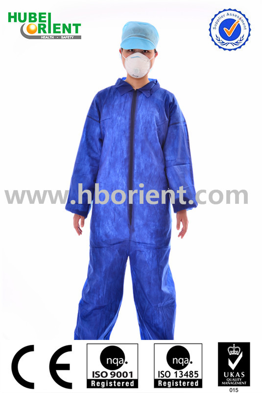 Industrial disposable dustproof working safety coverall suit