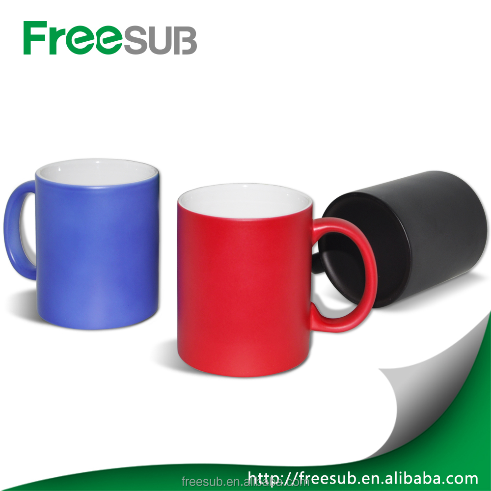 Sunmeta factory cheap ceramic 11oz wholesale cups to sublimation magic mug(SKB-05)