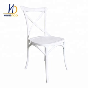 Wholesale Cheap Restaurant X Cross Back Outdoor Plastic Garden Chair