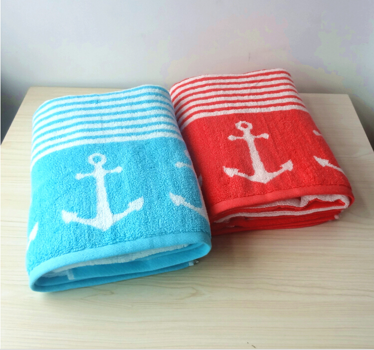 wholesale thickening double looped jacquard towel towel cotton beach towel