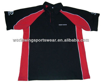 Mens 65 Cotton 35 Polyester Embroidered Red Black Toyota Mechanic