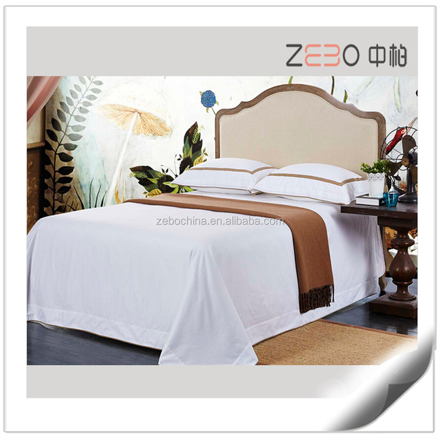 100% Cotton 300TC Plain Flat Sheet White Bed Sheets For Hotel Or Hospital  Used