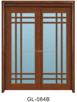 Exterior Sliding Wooden French Doors Solid Wood 4 Panel Interior Door