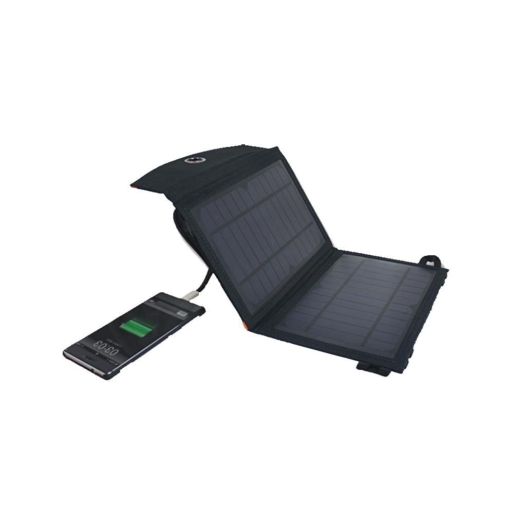 LLL-7W folding solar charger for dual-output outdoor waterproof magnetic buckle portable solar power charger