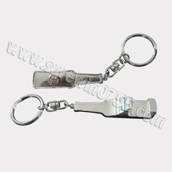 custom zinc-alloy bottle shape metal wine opener