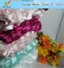 cheap wedding and event 3D satin ribbon rosette embroidery fabric