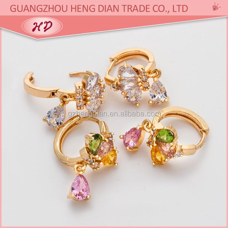 Fashion Jewelry 2017 New Design Personality CC Earrings Zirconia ...