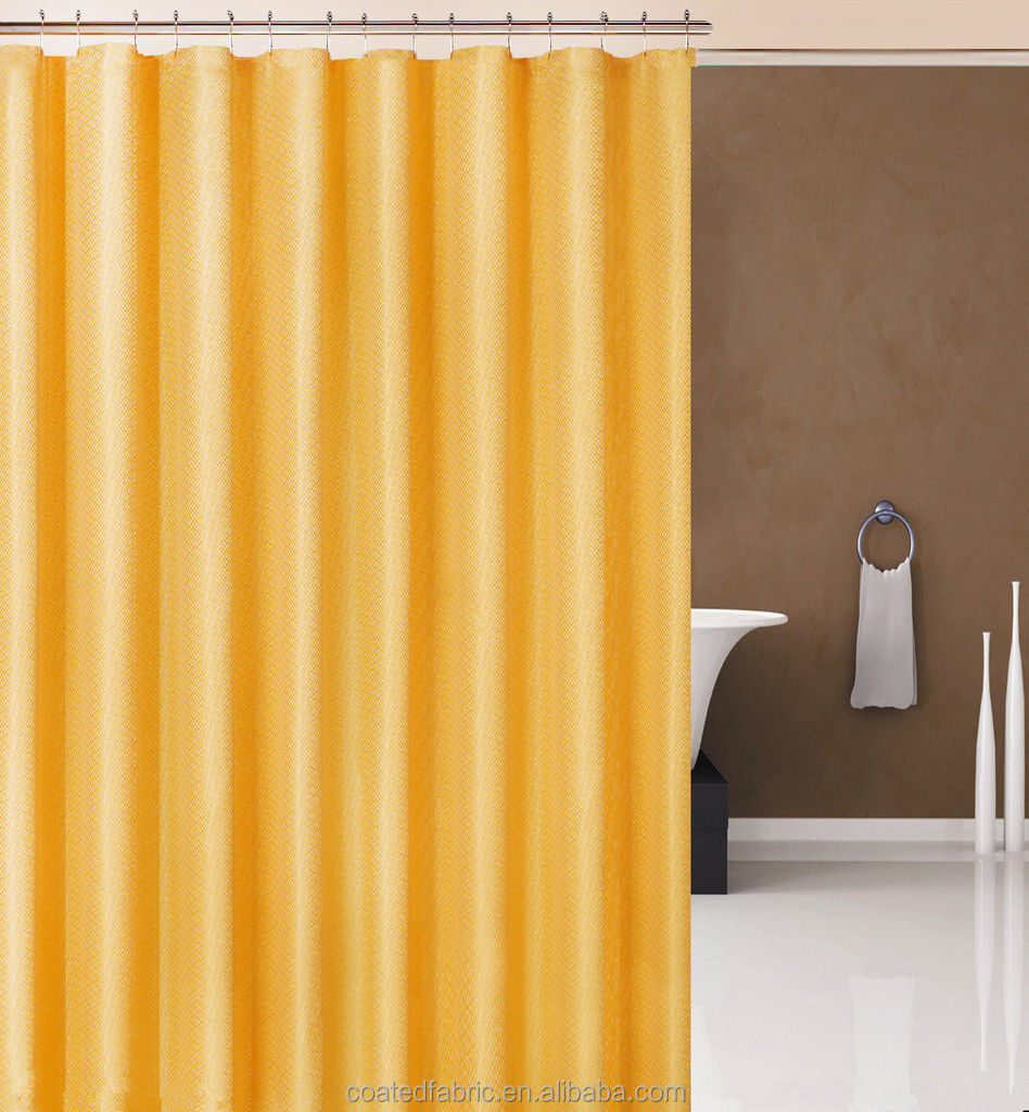 Polyester damask shower curtain fabric