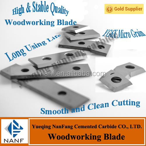 14x14x2.0mm Tungsten Carbide Planer Blade YG6X the best quality For Woodworking