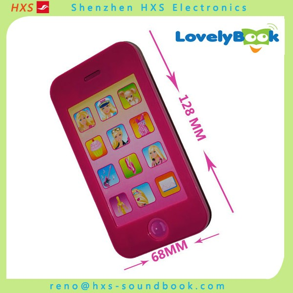 High quality custom recordable toy cell phone for children