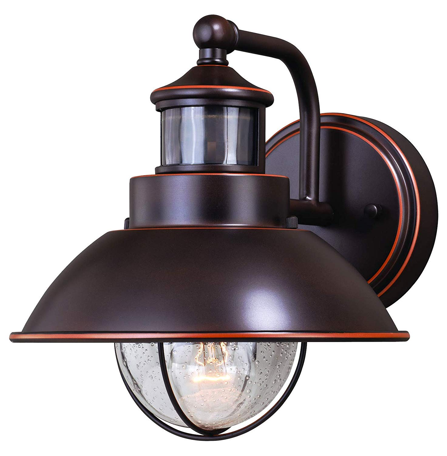 Harwich Dualux 8In. Outdoor Wall Light Burnished Bronze