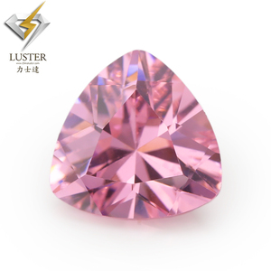 CZ direct 3x3mm~15x15mm pink cubic zirconia trillion cut shape buy zircon applied engagement rings