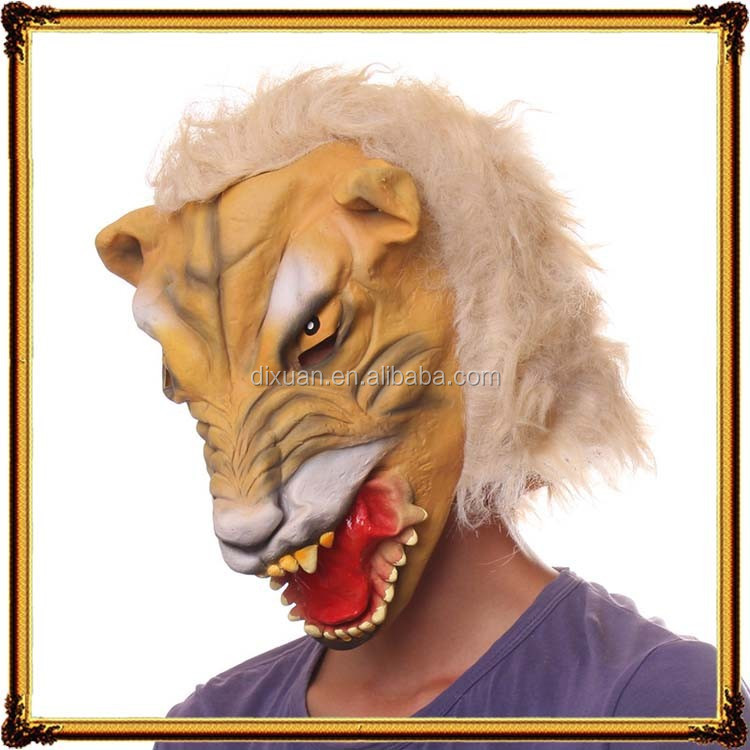Halloween animal lion latex lion head mask