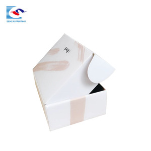 Custom full printing luxury facial treatment mask packing corrugated shipping box