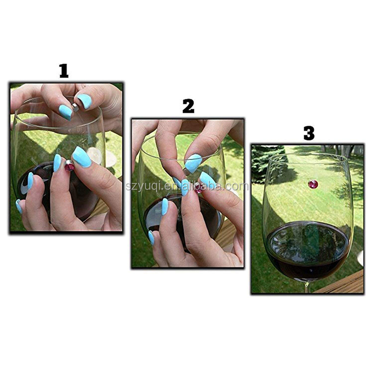 Wine Bar Accessories 2019 Magnetic Wine Glass Charms Drink Markers Charm Rings