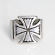 Men's Jewellery 925 Cross Silver Finger Ring Stainless Steel Rings