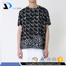 mens 70% polyester cotton big hand printed t-shirt