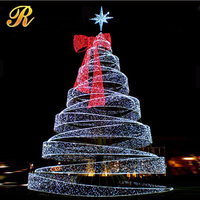 Giant led spiral christmas tree for outdoor decoration