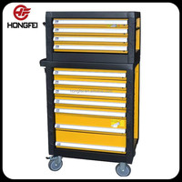 27 Inch 11 Drawer Heavy Duty Metal Tool Cabinet Combo