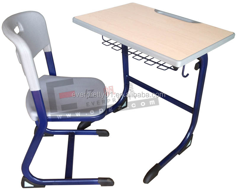 Cheap School Furniture Matel and Wooden Table Middle School Desk and Chair