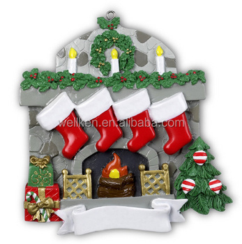 Fireplace christmas ornaments 4 buy personalized for Decoration names for christmas