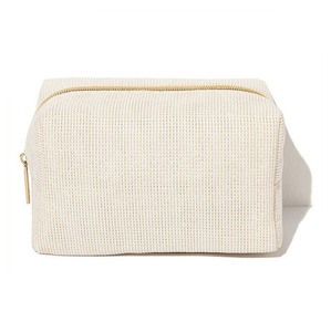 Fashion Design High Quality Plain Canvas Jute Cosmetic Bag with Zipper