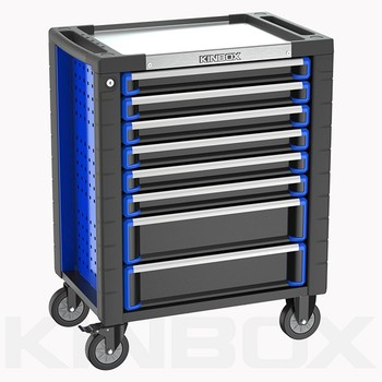 Kinbox Practical Multiple Drawers Steel Glide Tool Chest for Home Garage