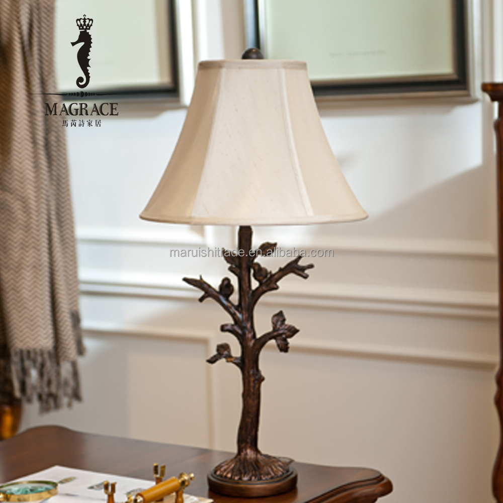 Decorative Animal Table Lamp With Bird Tree Branch Model Creative