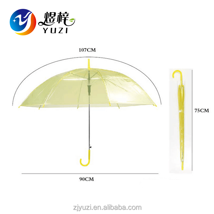 Environmentally Friendly Cheap Fashionable Transparent PVC Straight Umbrella