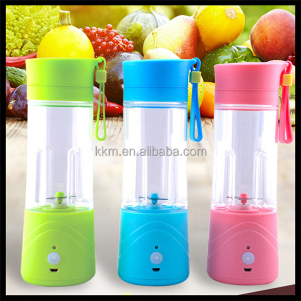 Hand Shaking home appliances car usb Juicer&smoothie maker, mini travel juice blender as seen on tv