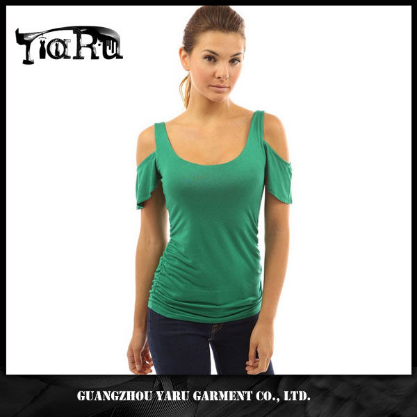 Alibaba hot sale t-shirt manufacturers in usa ladies women off shoulder designs blank t-shirt dress